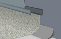 Altro Whiterock Alternative - Buy PVC Wall Cladding - Polarex PC037 Overcast Vinyl Floor Trim For 2mm Hygienic PVC Wall Armour Cladding