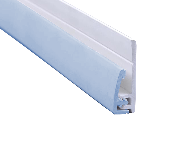 Polarex 2-Part End Profile for PC015 Placid Blue 2 5mm Hygienic PVC Wall  Cladding Sheets