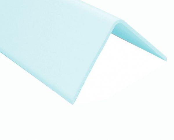 Hygienic Wall Panels - PVC Wall Cladding - Hygienic Wall Panels - Wall Cladding Sheets - Polarex PC005 Sky Blue External Angle for Hygienic PVC Wall Cladding