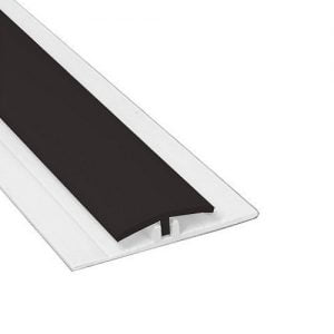 Hygienic Wall Panels - PVC Wall Cladding - Hygienic Wall Panels - Wall Cladding Sheets - Hygienic Wall Cladding Manufacturers - Buy Hygienic Wall Cladding - Polarex PC006 Ebony Black 2-Part Joint Strip for Hygienic PVC Wall Cladding
