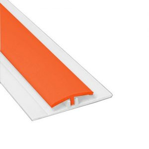 Hygienic Wall Panels - PVC Wall Cladding - Hygienic Wall Panels - Wall Cladding Sheets - Hygienic Wall Cladding Manufacturers - Buy Hygienic Wall Cladding - Polarex PC008 Burnt Orange 2-Part Joint Strip for 2.5mm Hygienic PVC Wall Cladding