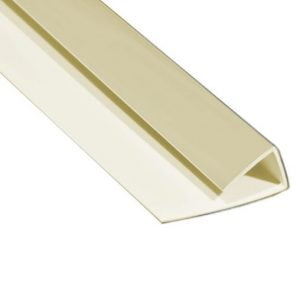 Hygienic Wall Panels - PVC Wall Cladding - Hygienic Wall Panels - Wall Cladding Sheets - Polarex PC042 Pumice 1-Part Edge Trim for 2mm Hygienic PVC Wall Armour Cladding